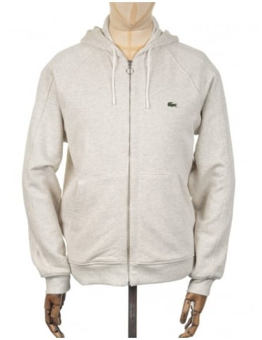 Lacoste Live Zip Hooded Sweatshirt - Lime Chine (Grey)