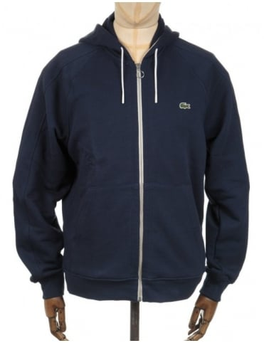 Lacoste Live Zip Hooded Sweatshirt - Marine Blue
