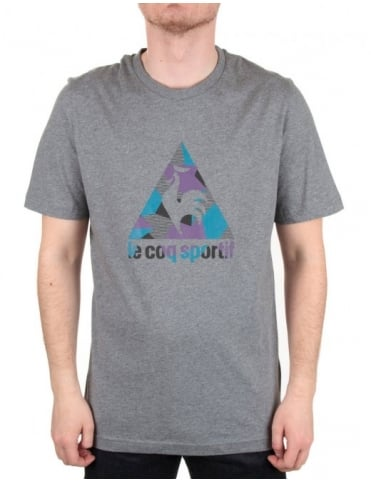 Le Coq Sportif Retro Running Tee - Heather Grey