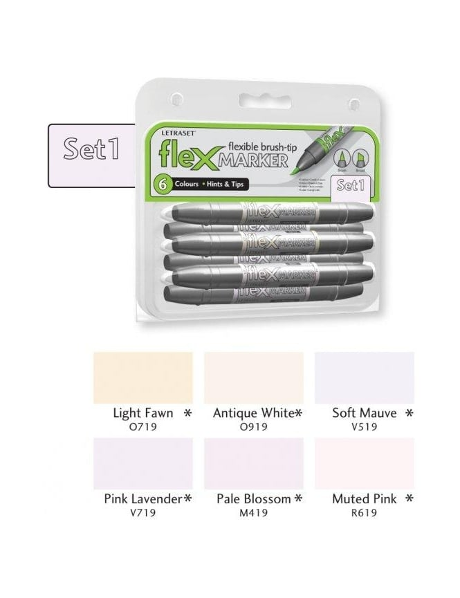 Letraset FlexMarker 6 Pack - Set 1