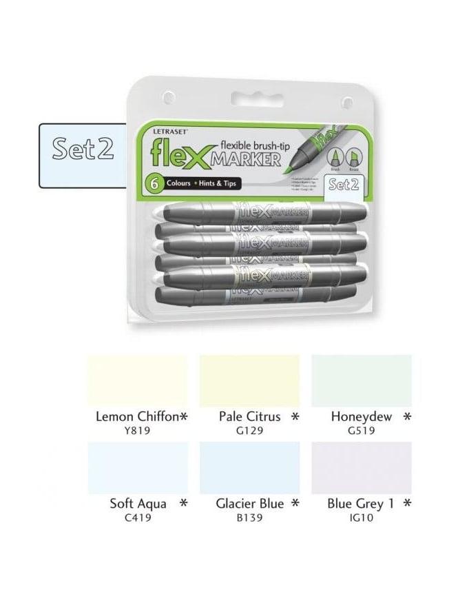 Letraset FlexMarker 6 Pack - Set 2