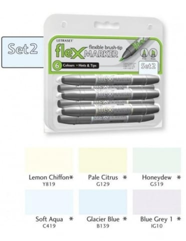 Letraset FlexMarker 6 Pack - Set 2