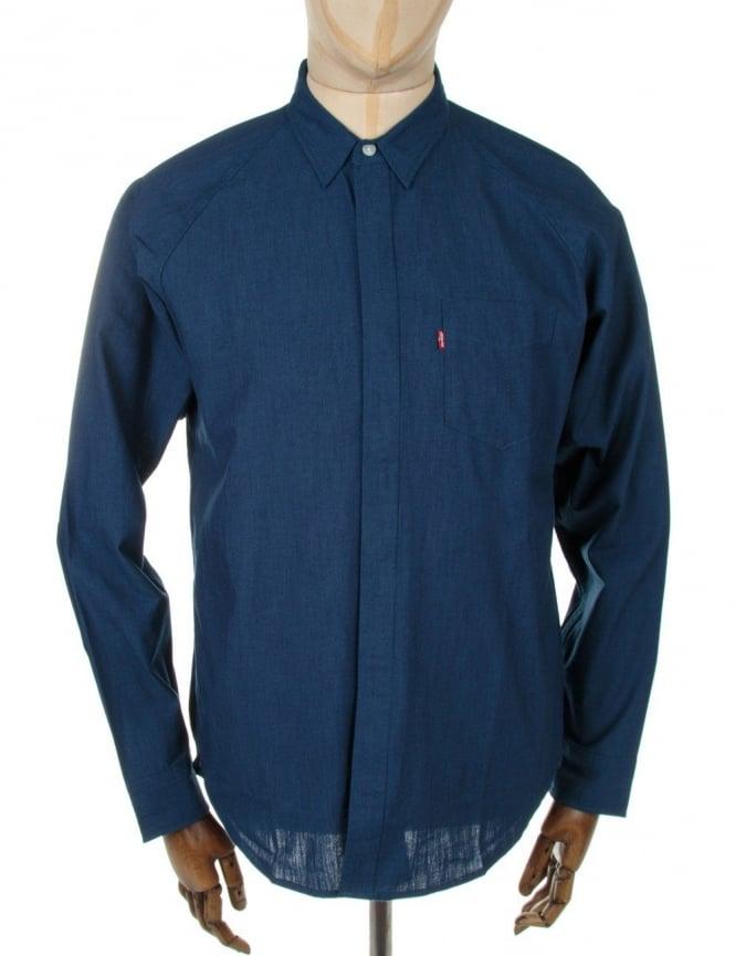Levi's Commuter Raglan Shirt - Blue