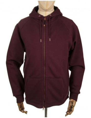 Wind Resistant Hooded Sweat - Potion Red