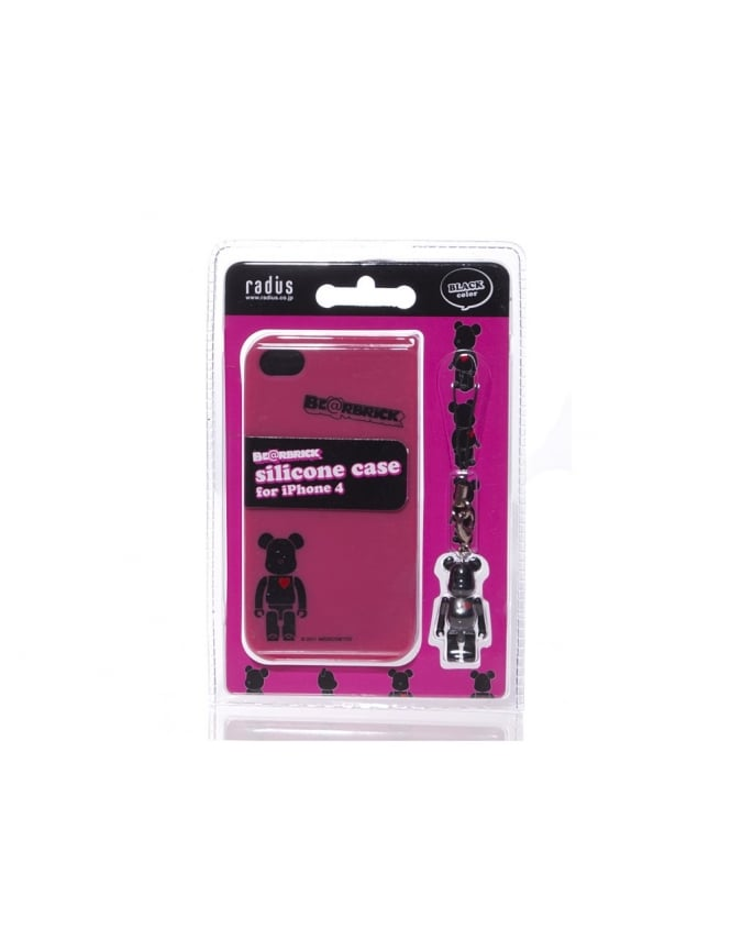 Medicom iPhone 4 Case - Black/Pink