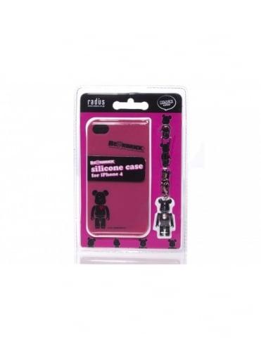 Medicom iPhone 4 Case - Black/Pink