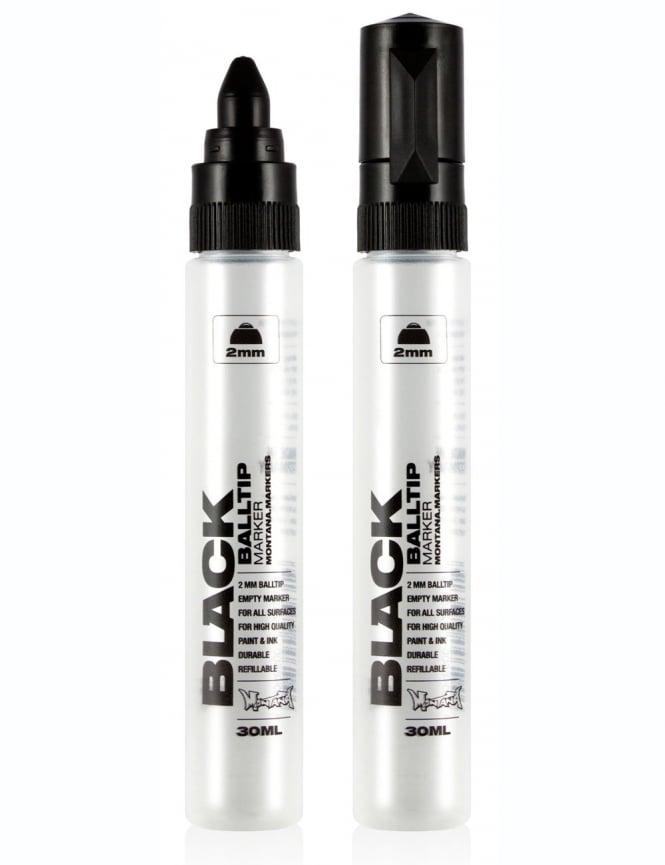 Montana Black 2mm Balltip Empty Marker Pen