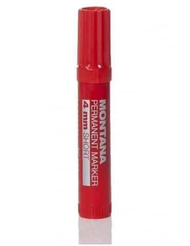 Montana Black 4mm Short Pen - Red