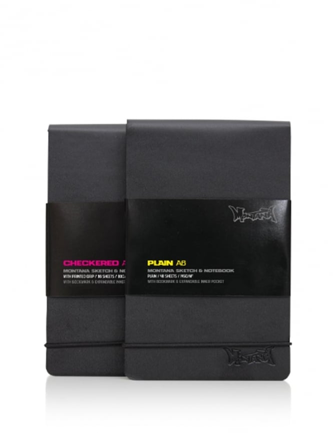Montana Black A6 Notebook - Checkered