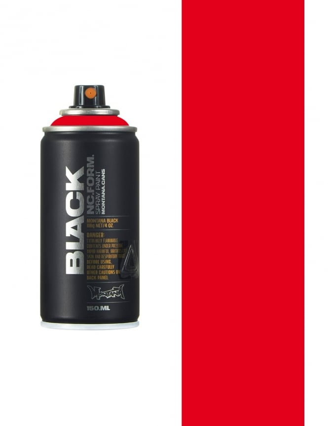 Montana Black Code Red Spray Paint - 150ml