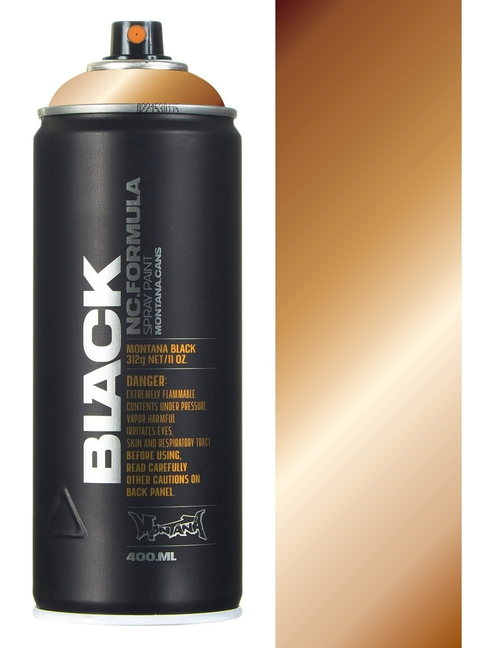 Montana Black Copper Chrome Spray Paint 400ml Spray Paint Supplies From Fat Buddha Store Uk