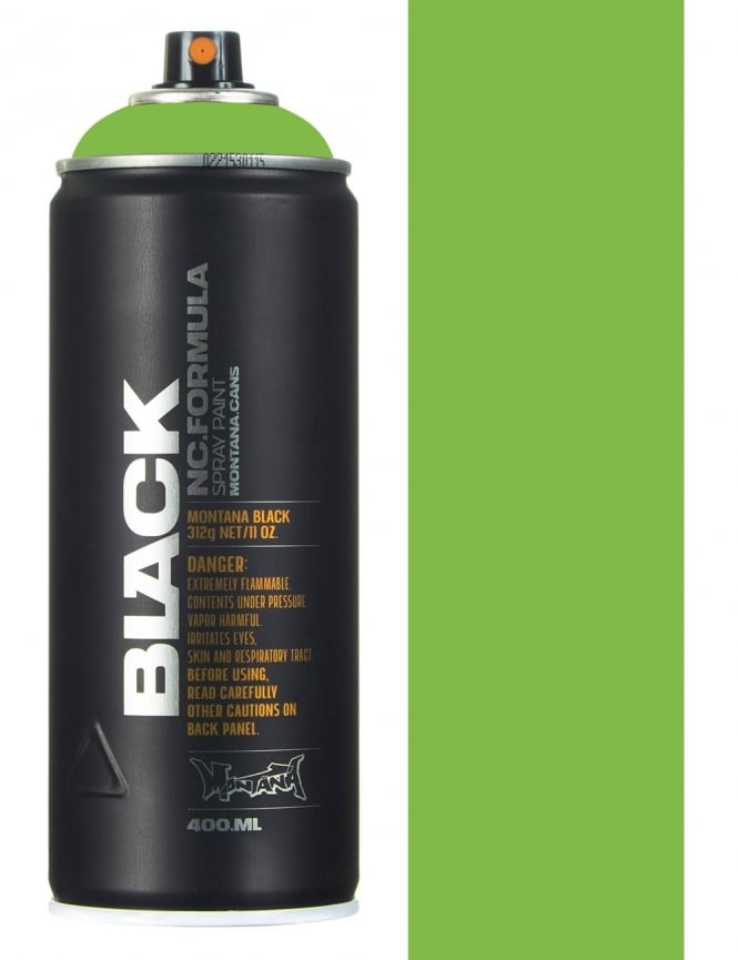 Montana Black Infra Green Spray Paint - 400ml
