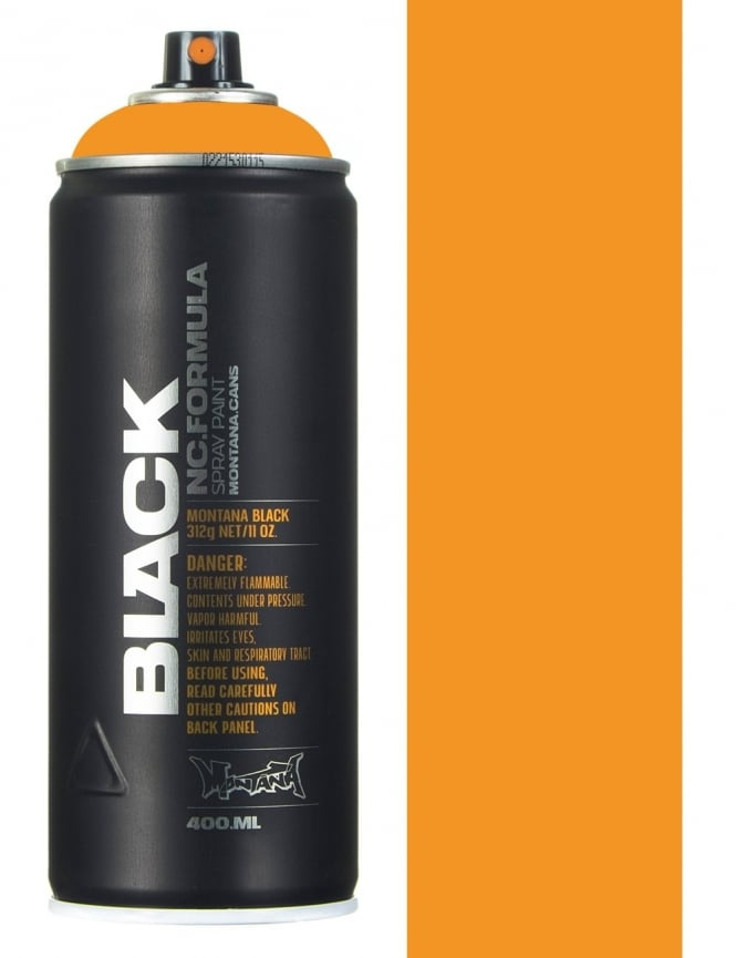 Montana Black Infra Orange Spray Paint - 400ml