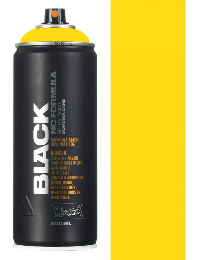 Montana Black Kicking Yellow Spray Paint - 400ml
