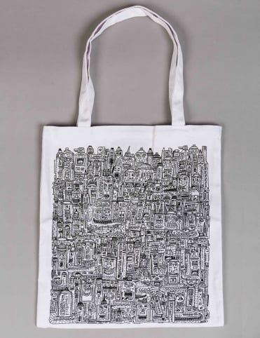 Montana Tools by JAN PAUL Tote Bag - White
