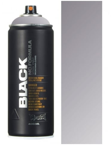 Montana Black Outline Silver Spraypaint - 400ml