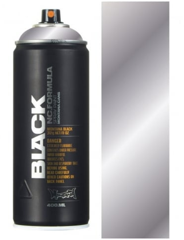 Montana Black Silver Chrome Spraypaint - 400ml