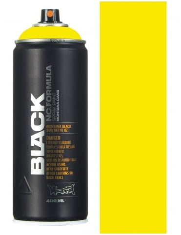 Montana Black True Yellow Spray Paint - 400ml