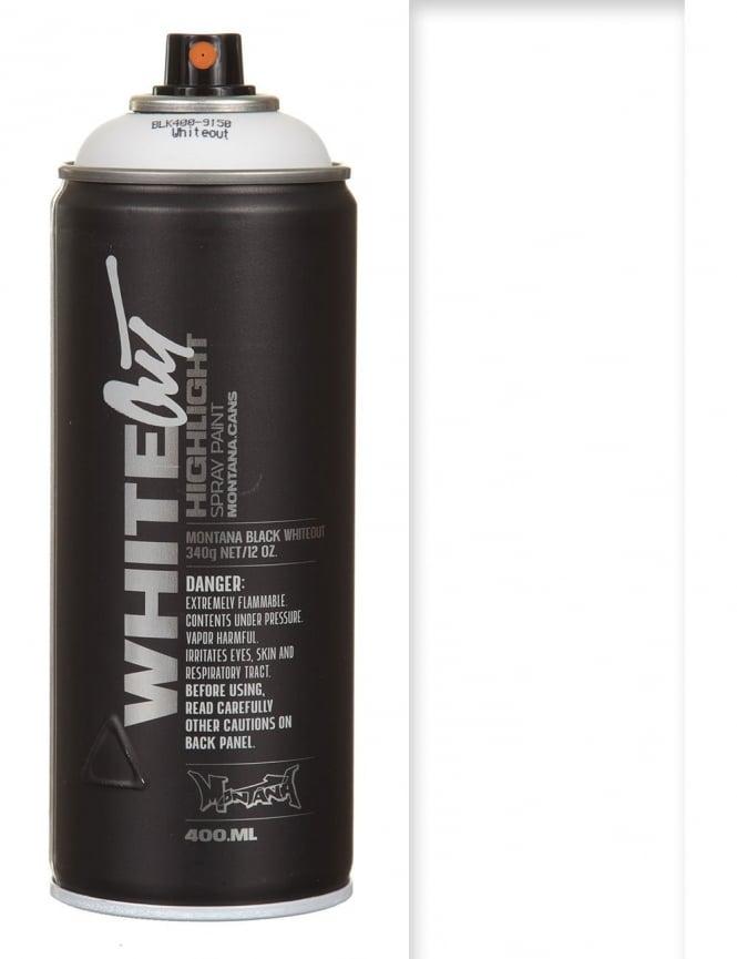 Montana Black White-Out Highlight Spray Paint - 400ml