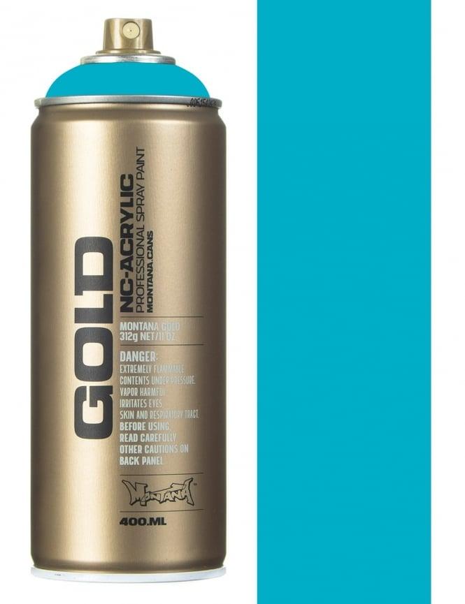 Montana Gold 100% Cyan Spray Paint - 400ml