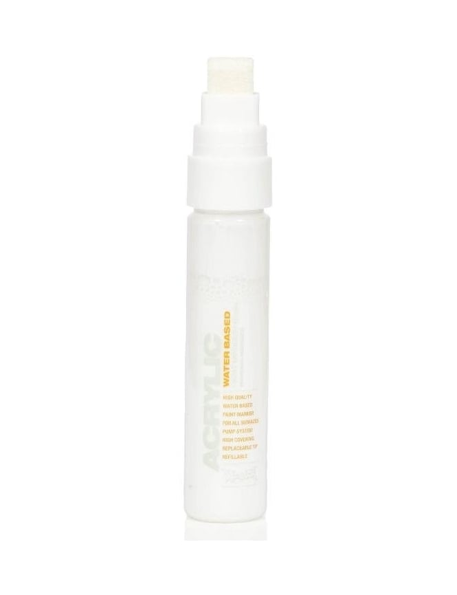 Montana Gold 15mm Acrylic Paint Marker - Shock White Pure