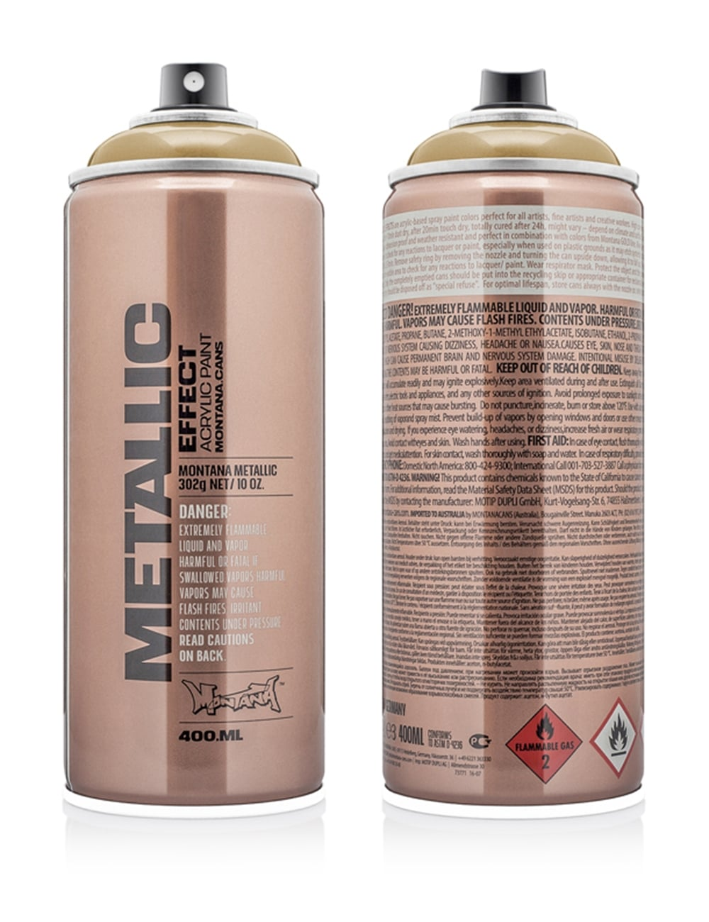 EMC1050 Gold Metallic Effect Spray Paint - 400ml