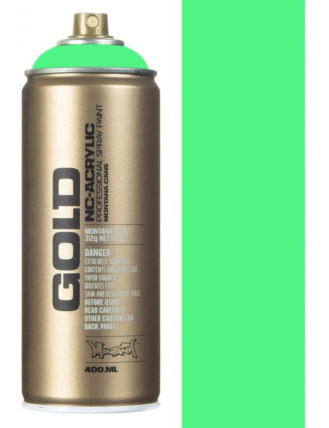 Montana Gold Flourescent Acid Green Spray Paint - 400ml
