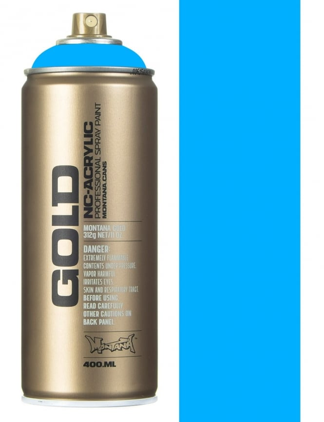 Montana Gold Flourescent Flame Blue Spray Paint - 400ml