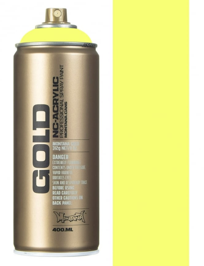 Montana Gold Flourescent Flash Yellow Spray Paint - 400ml