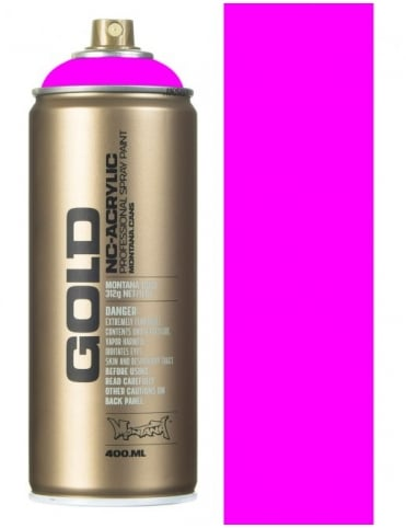 Montana Gold Flourescent Gleaming Pink Spray Paint - 400ml