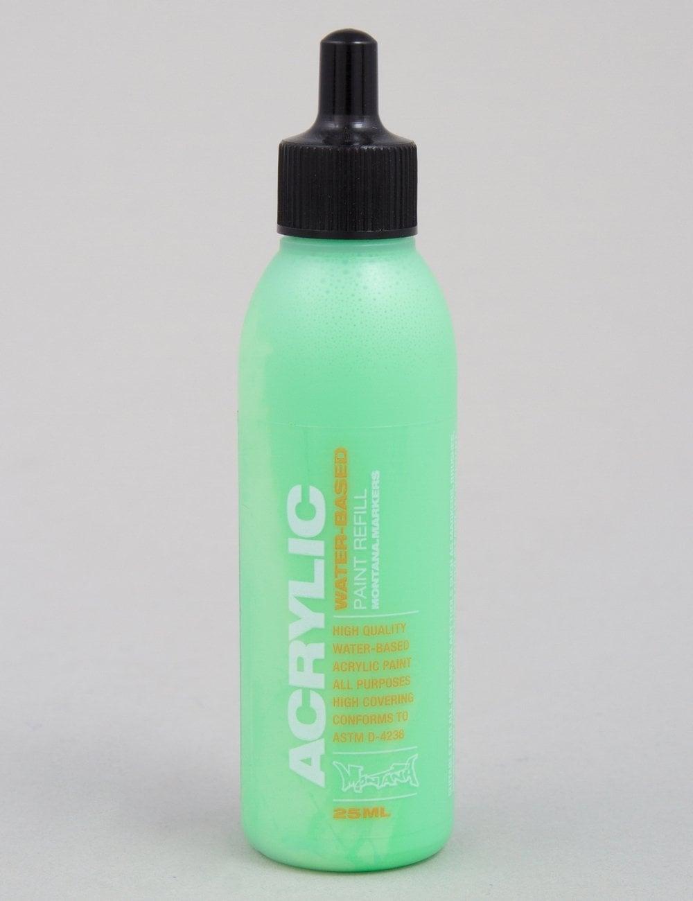 Montana gold fluoro acid green 25ml paint refill spray paint supplies from fat buddha store uk Spray paint supplies