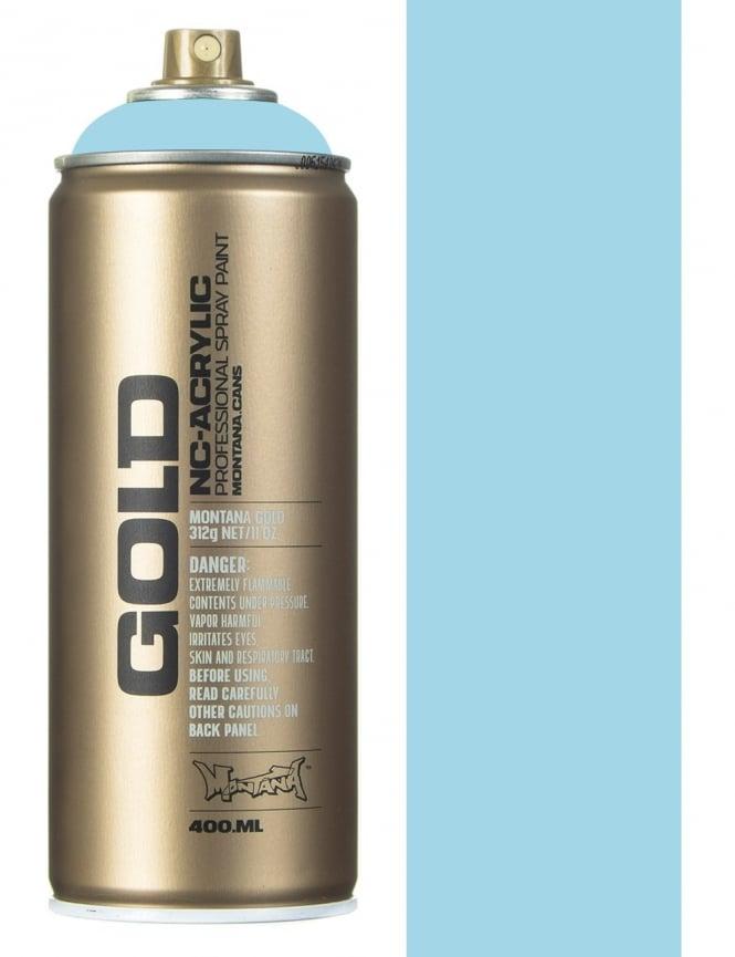 Montana Gold Fresh Blue Spray Paint - 400ml