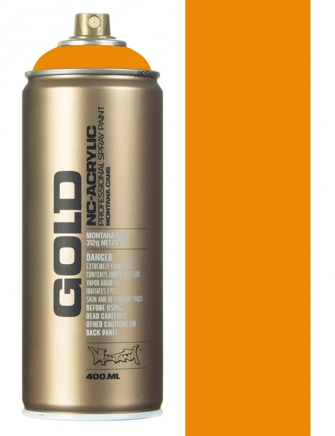 Montana Gold Golden Yellow Spray Paint - 400ml