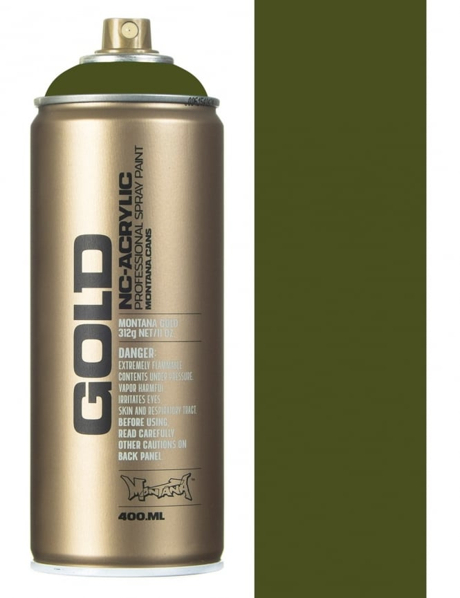 Montana Gold Olive Green Spray Paint - 400ml