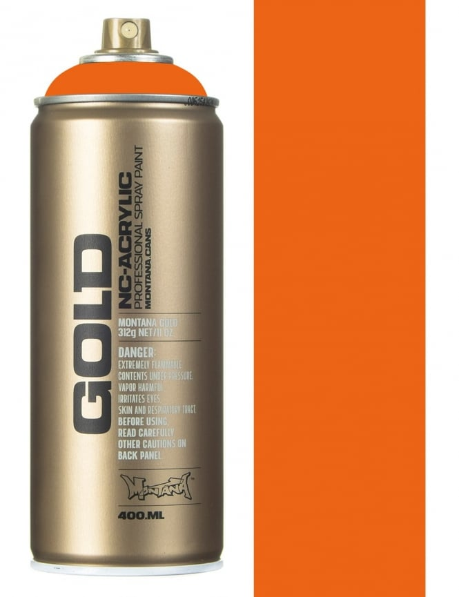 Montana Gold Orange Spray Paint - 400ml