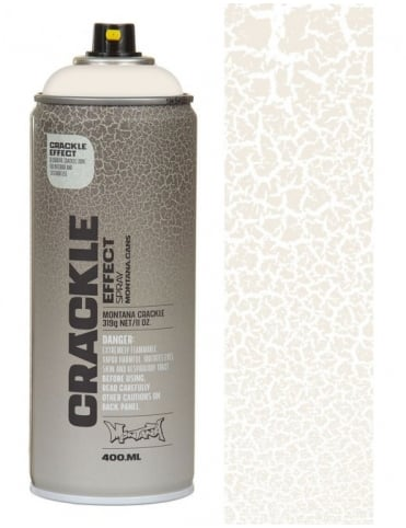 Montana Gold Pure White Crackle Effect Spray Paint - 400ml