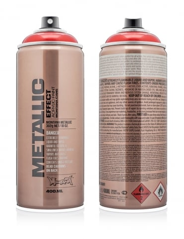 Red Metallic Effect Spray Paint - 400ml