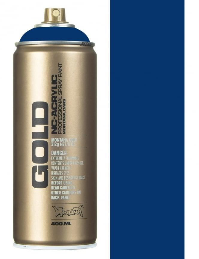 Montana Gold Shock Blue Dark Spray Paint - 400ml