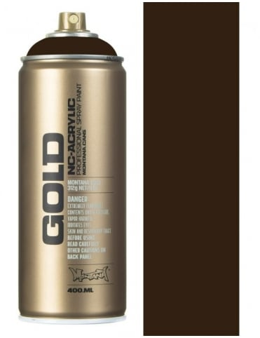 Montana Gold Shock Brown Dark Spray Paint - 400ml