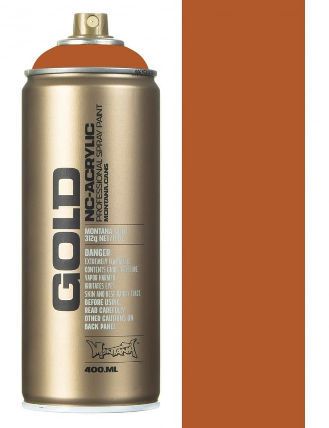 Montana Gold Shock Brown Light Spray Paint - 400ml