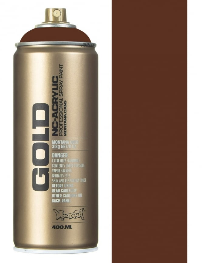 Montana Gold Shock Brown Spray Paint - 400ml