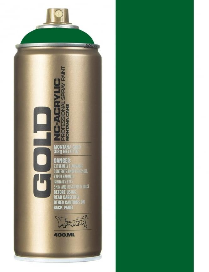Montana Gold Shock Green Dark Spray Paint - 400ml