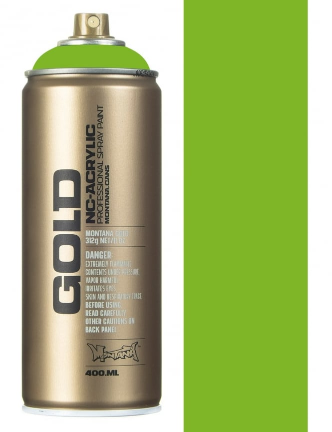 Montana Gold Shock Green Light Spray Paint 400ml Spray Paint Supplies From Fat Buddha Store Uk