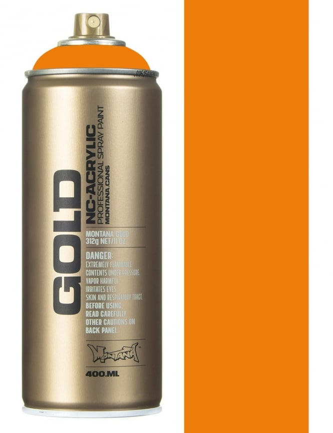 Montana Gold Shock Orange Light Spray Paint - 400ml