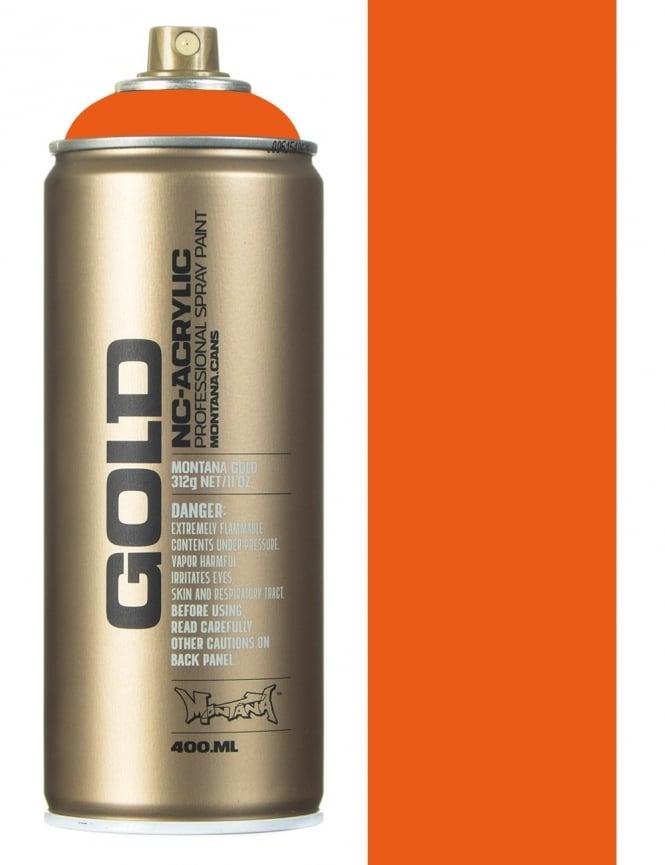 Montana Gold Shock Orange Spray Paint - 400ml