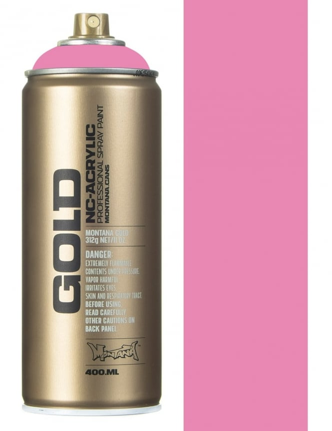 Montana Gold Shock Pink Light Spray Paint - 400ml