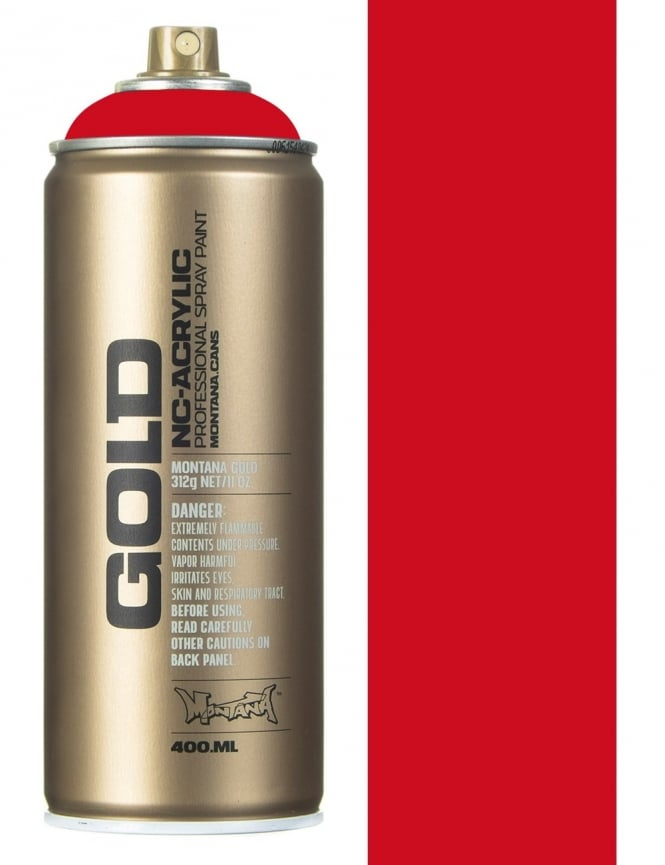 Montana Gold Shock Red Spray Paint - 400ml