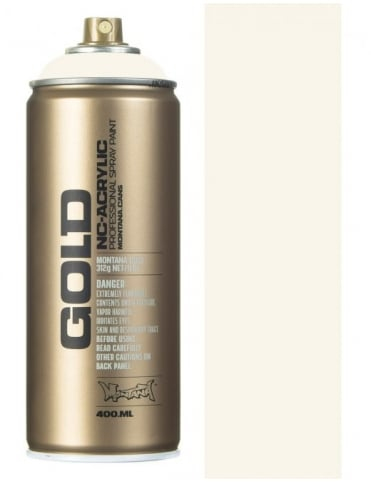 Montana Gold Shock White Cream Spray Paint - 400ml