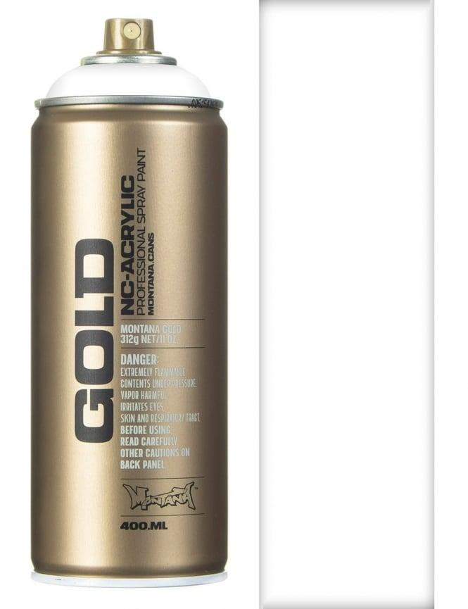 Montana Gold Shock White Pure Spray Paint - 400ml