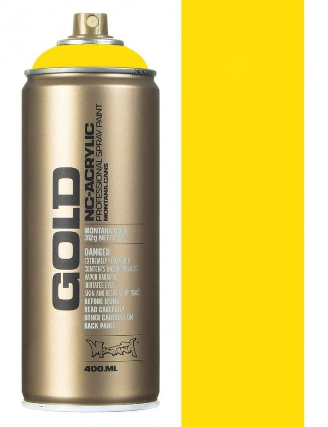Montana Gold Shock Yellow Light Spray Paint - 400ml
